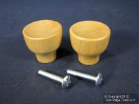 """2 Brainerd 1-3/16"""" Cabinet Desk Dresser Drawer Tulip Solid MAPLE Knobs Handle 266"""