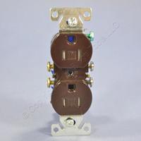 Cooper Brown TAMPER RESISTANT Duplex Receptacle Outlet NEMA 5-15R 15A 125V Bulk TR270B
