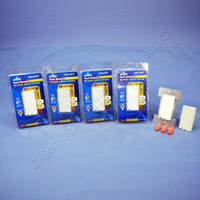 5 Leviton White/Almond Decora TOUCH Pad Incandescent Dimmer Light Switches 600W 6606-1LM