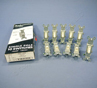 10 Pass & Seymour Light Almond Toggle Switches 15A 660-LAG