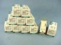 10 Leviton Almond Decora Rocker Switches w/Receptacle 15A Outlet Single Pole 5648-A