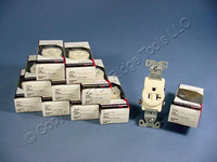 10 Cooper Almond COMMERCIAL Single Outlet Receptacles NEMA 5-20R 20A 125V 1877A