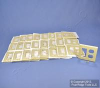 25 Leviton Decora Ivory Duplex Receptacle GFCI GFI 2-Gang Wallplate Covers 80455-I