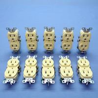 10 Cooper Ivory COMMERCIAL Grade Outlet Receptacles NEMA 5-15R 15A 125V CR15V