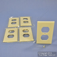 5 Eagle Ivory STANDARD 1-Gang Outlet Cover Duplex Receptacle Wallplates 2132V