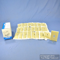25 Leviton Ivory Unbreakable Toggle Switch Cover Wall Plates Switchplates 80701-I