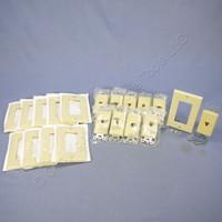 10 Leviton Ivory Decora Modular Telephone Jacks w/ Wallplate 6P6C Type 625F 40638-I