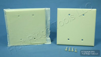 2 Leviton Almond Midway 2-gang Blank Wallplate Covers PJ23-A