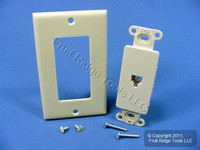 Eagle Ivory Decorator Modular Telephone Jack Wallplate Cover Type 625 TWD3560V