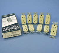10 Pass & Seymour Ivory Decorator Receptacles Outlet 15A 885-I