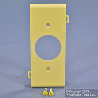 "Ivory Leviton Sectional Receptacle Wallplate 1.406"" Single Outlet PSC7-I"