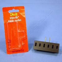 Do It Best Brown Plug-In Triple Tap Outlet Adapter NEMA 1-15R 15A 125V 505498