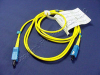 2M Leviton Fiber Optic Single-Mode Simplex Patch Cable Cord SM SC UPC UPSSC-S02
