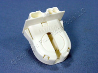 Leviton Fluorescent Lamp Holder Light Socket T-8 T8 Medium Bi-Pin G13 Base Shunted 23652-WP