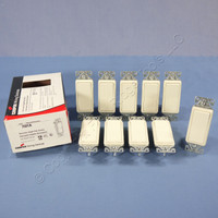 10 New Cooper Almond Single Pole Decorator Rocker ON/OF Light Switches 15A 7501A