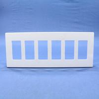 Leviton White 6-Gang Midway Size Decora Screwless Wallplate Cover GFCI GFI SJ266-SW