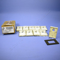 10 Leviton Ivory Electrical Box Mounting Adapters Wallplates With Gasket 6781-I