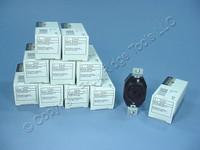 10 Leviton Non-NEMA Locking Receptacle Outlets 20A 250V AC/DC 10A 600VAC 3520