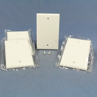 4 Cooper White Thermoset Standard 1-Gang Blank Cover Box Mounted Wallplates 2129W