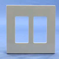 Leviton Light Almond 2-Gang Midway Size Decora Screwless Wallplate Cover GFCI GFI SJ262-ST