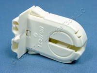 Leviton Fluorescent Lamp Holder Light Socket T-12 T-8 Medium Bi-Pin G13 Base T8 T12 Wide Fin Shunted 23653-WWP