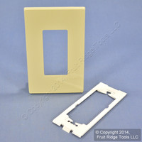 Leviton Ivory Midway Size Decora Screwless Wallplate Cover GFCI GFI SJ26-SI