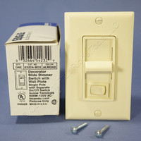 Eagle Electric Almond Preset ON/OFF Single Pole Slide Decorator Dimmer Switch 600W 6320A