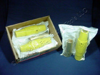 3 Leviton Yellow ECT 17 Series Female Cam Plugs Double Set Screw 690A 600V 17D24-Y