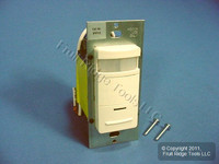Leviton Almond Manual-ON Motion Sensor Occupancy Switch 800W 1200VA 900 sq ft IPP10-1LA
