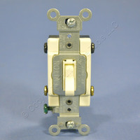 Leviton Almond 4-WAY COMMERCIAL Quiet Toggle Wall Light Switch 15A Bulk 54504-2A