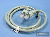 Leviton Gray Cat 6+ 3 Ft Ethernet LAN Patch Cord Network Cable Booted Cat6+ AG600-3S