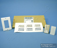 Leviton White Faceplate Color Change Kit for 4-Scene Dimming Controller DCK4D-CW