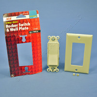 Ace Ivory Residential 3-Way Decorator Rocker ON/OFF Wall Light Switch 15A 31613