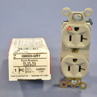 Pass & Seymour Gray ISOLATED GROUND Outlet Receptacle 20A IG6300-GRY