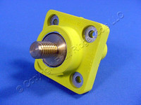 "Leviton Yellow 16 Series Cam Receptacle Panel Outlet 3/4"" Stud Female Plug 400A 600V 16R24-Y"