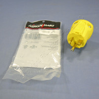 Cooper Arrow Hart Yellow QuickGrip Straight Blade Plug 2P3W NEMA 5-20 20A 125V AH5364Y