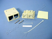 New Eagle Ivory Commercial Grade 2-Port Surface Mount Office Box 110 Style 5532V