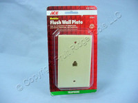 ACE Ivory Modular Phone Jack Wallplate 4-Wire 4-Conductor Telephone Cover 33076
