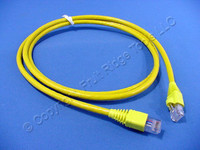 Leviton Yellow 5' Cat 6+ Extreme Ethernet LAN Patch Cord Cable Cat6 Plus 5 Ft 62460-5Y