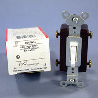 Pass & Seymour White 4-WAY COMMERCIAL Toggle Wall Light Switch 15A 664-WG Boxed