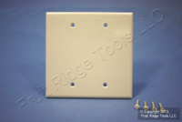 Leviton Lt Almond 2-Gang Blank MIDWAY Wallplate Thermoset Plastic Cover 80525-T
