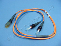 1M Leviton Fiber Optic Multi-Mode Duplex Patch Cable Cord MT-RJ ST 50 50DTM-M01