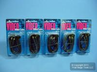 5 Leviton 6' AV Audio Video Cables GOLD RCA Plugs C5852-6GO