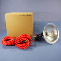 Heavy Duty Utility Magnetic-Based Incandescent Job Site Spot Light with 25' Cord Cord ML-200-50-C3
