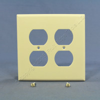 Eagle Almond Mid-Size 2-Gang Receptacle Thermoset Wallplate Outlet Cover 2050A