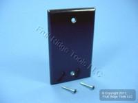 New Leviton Brown 1-Gang Blank Box Mount Cover Standard Plastic Wallplate 85014