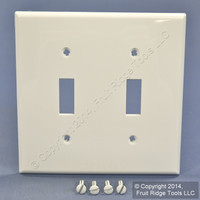 Leviton White UNBREAKABLE 2Gang Switch Nylon Cover Wallplate Switchplate 80709-W