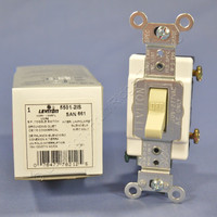 Leviton COMMERCIAL Ivory Smooth Toggle Wall Light Switch Single Pole 15A 120/277VAC 5501-2I