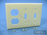 Leviton Ivory UNBREAKABLE 3-Gang Switch/Outlet Wallplate Receptacle Cover Switchplate 80721-I