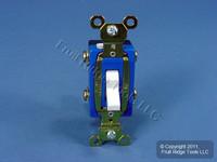 Pass & Seymour White HARD USE DOUBLE POLE Toggle Light Switch 15A CSB15AC2-W
